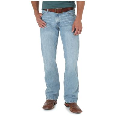Wrangler Men's Retro Slim Fit Bootcut Jeans, Blue Frost