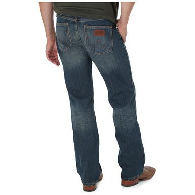 Wrangler Retro Slim Fit Boot Cut Jeans, BANJO BLUE