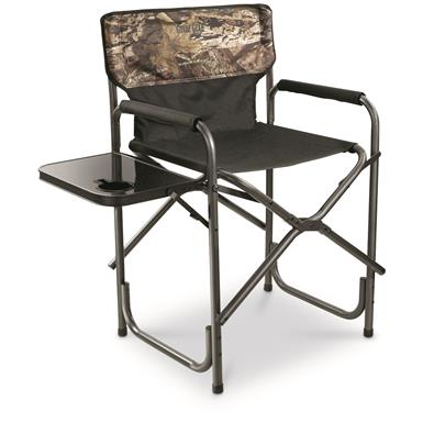 Guide Gear Oversized Mossy Oak Break-Up COUNTRY Camo Tall Director's Chair, 500 lb Capacity