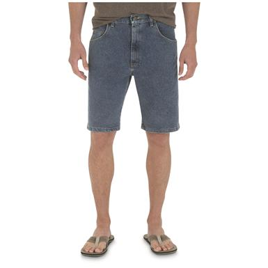 Wrangler Men's Advanced Comfort Relaxed Fit Shorts, Vintage Stonewash