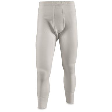 East German Military White Long Johns, 4 Pack, New