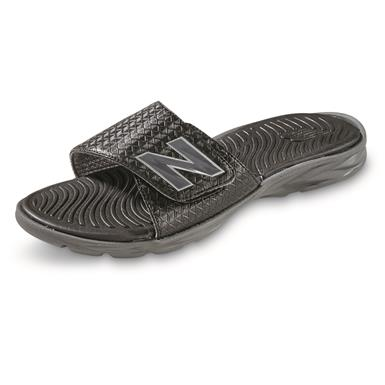 New Balance Men's Response Slide Sandals, Black/Gray