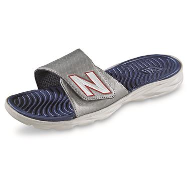 New Balance Men's Response Slide Sandals, Gray/Navy