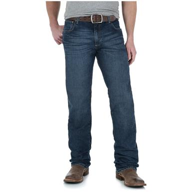 Wrangler Retro Slim Fit Straight Leg Jeans, Amarillo