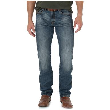 Wrangler Retro Men's Slim Fit Straight Leg Jeans, Dark Knight