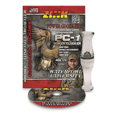 Zink Power Clucker PC-1 Polycarbonate Goose Call and Instructional DVD