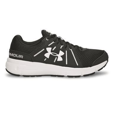 Under Armour Men's Dash RN 2 Running Shoes, Black/White/White