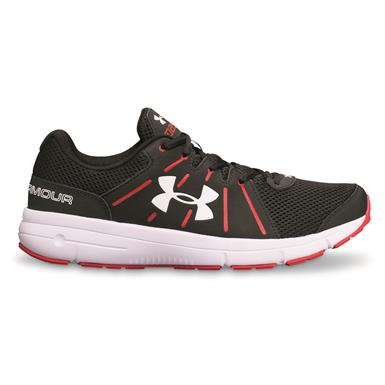 Under Armour Men's Dash RN 2 Running Shoes, Black/Red/White
