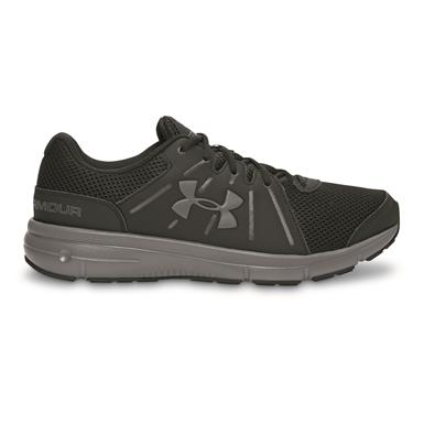 Under Armour Men's Dash RN 2 Running Shoes, Black/Rhino Gray/Rhino Gray