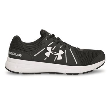 Under Armour Women's Dash RN 2 Running Shoes, Black/White/White