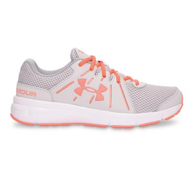 Under Armour Women's Dash RN 2 Running Shoes, Glacier Gray/White/London Orange