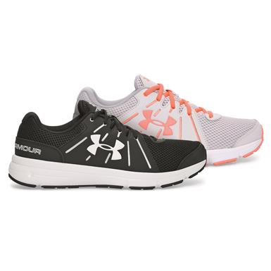 Under Armour Women's Dash RN 2 Running Shoes, Black/White/White or Glacier Gray/White/London Orange