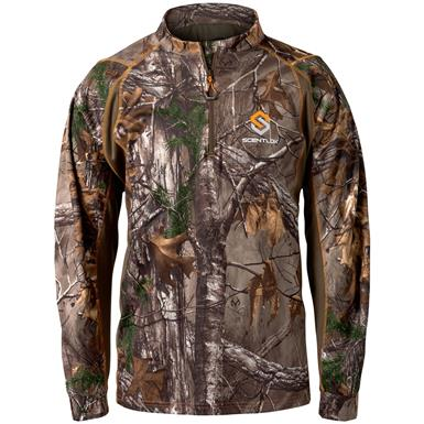 ScentLok Men's Savanna Attack Quarter-Zip Hunting Shirt, Realtree Xtra