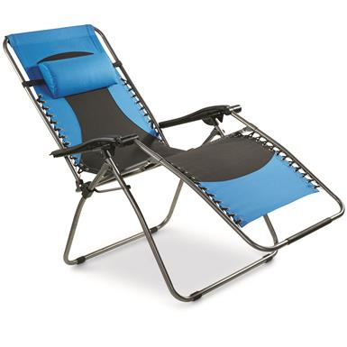 Guide Gear Oversized 500 lb. Zero Gravity Chair, Blue