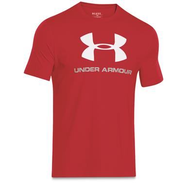 Under Armour Men's Sportstyle Logo T-Shirt, Red/Steel