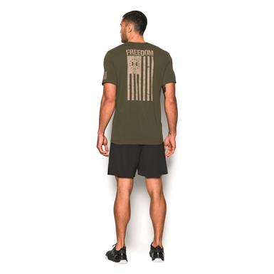 Flag graphic on back, Marine OD Green