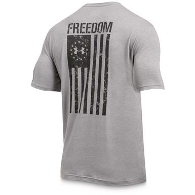 Under Armour Men's Freedom Flag Short Sleeve Tee, True Gray Heather