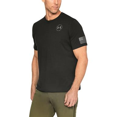 Under Armour Men's Freedom Flag Short Sleeve Tee, Black