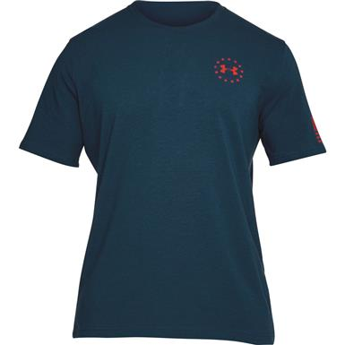 Under Armour Men's Freedom Flag Short Sleeve Tee, Blackout Navy