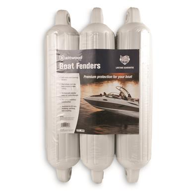 "SoftSide 5"" x 22"" Oval Mooring Boat Fenders, 3 Pack"