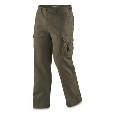 Guide Gear Men's Outdoor Cargo Pants, Olive, Olive
