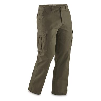 Durable 100% cotton with deep cargo pockets, Olive