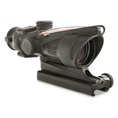 Trijicon 4x32mm ACOG, Dual Illuminated Red Chevron Reticle Rifle Scope, .223 Ballistic