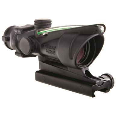 Trijicon 4x32mm ACOG, Dual Illuminated Green Chevron Reticle Rifle Scope, .223 Ballistic