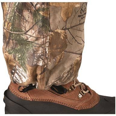 Drawcord ankle cuffs for cinching around boots, Realtree Xtra¿¿