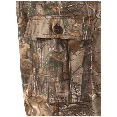 Bellowed, button-up cargo pockets keep gear within easy reach, Realtree Xtra¿¿