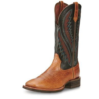 Ariat Men's Quickdraw VentTek Cowboy Boots, Gingersnap/After Dark