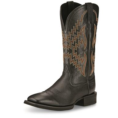 Ariat Men's Tycoon Western Boots, Black Deertan