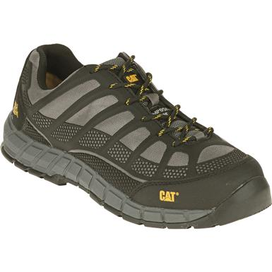 Cat Men's Streamline Composite Toe Work Shoes, Charcoal Black
