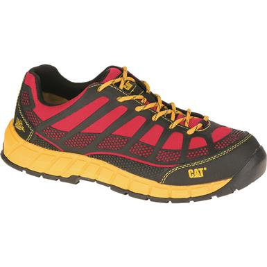Cat Men's Streamline Composite Toe Work Shoes, Red/Black