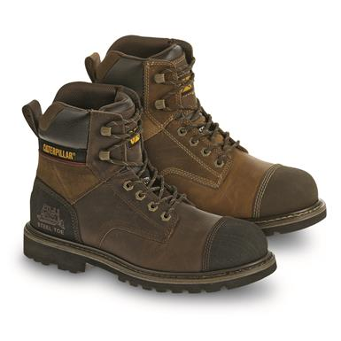 "Cat Footwear Men's Traction 6"" Steel Toe Work Boots"