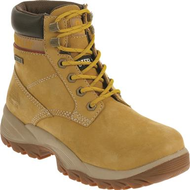 "Cat Women's Dryverse 6"" Waterproof Steel Toe Work Boots, Honey"