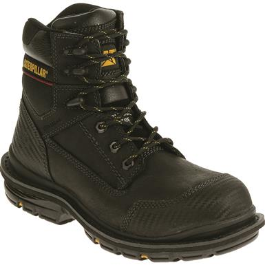 "Cat Men's Fabricate 6"" Tough Waterproof Composite Toe Work Boots, Black"