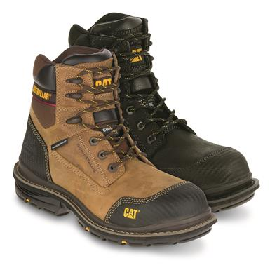 "Cat Men's Fabricate 6"" Tough Waterproof Composite Toe Work Boots"