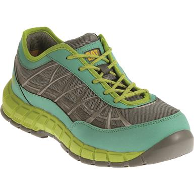 Cat Women's Connexion Steel Toe Work Shoes, Green
