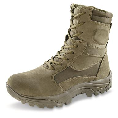 "HQ ISSUE Men's Talos 8"" Waterproof Side-Zip Tactical Boots, Sage"