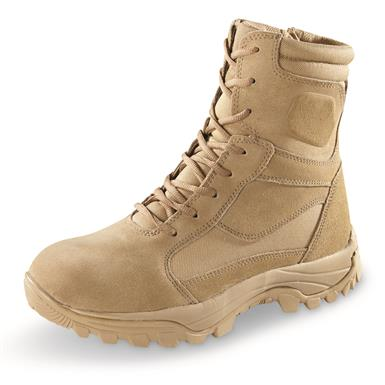 "HQ ISSUE Men's Talos 8"" Waterproof Side-Zip Tactical Boots, Coyote"