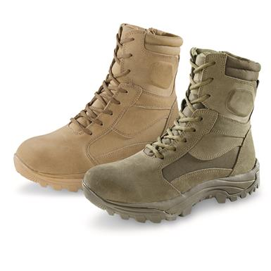 "HQ ISSUE Men's Talos 8"" Waterproof Side-Zip Tactical Boots, Coyote (327"