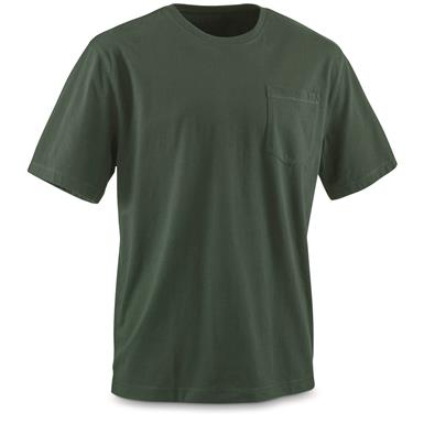 Guide Gear Men's Stain Kicker Short Sleeve Pocket T Shirt With Teflon, Pine