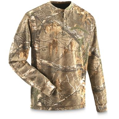 Guide Gear Men's Realtree Xtra Henley Shirt