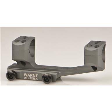 Warne Extended Skeletonized 30mm MSR Mount with 20 MOA, Tactical Gray