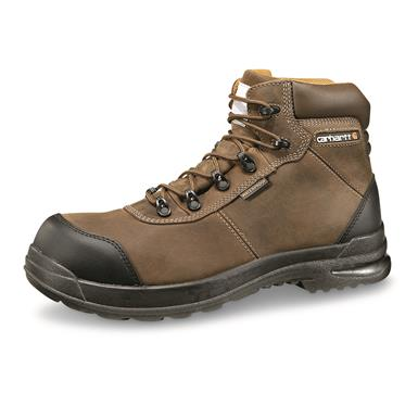 "Carhartt Men's 6"" Stomp Light Waterproof Non-Safety Work Boots, Chocolate Brown"