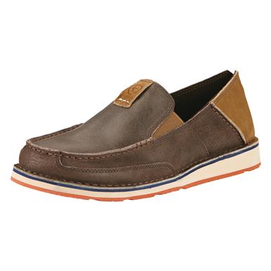Ariat Men's Cruiser Casual Slip-On Shoes, Earth Brown/Hunter