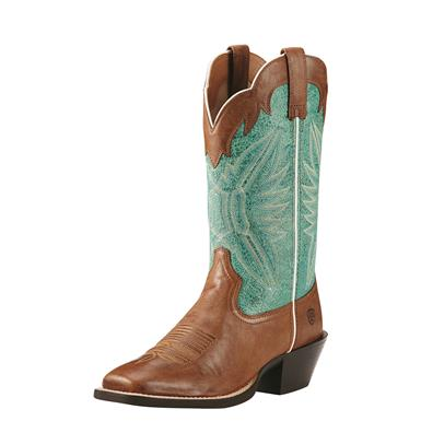 Ariat Women's Roundup Outfitter Western Boots, Wood/Latigo Bay