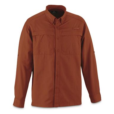 Guide Gear Men's Traverse Long Sleeve Shirt, Rust