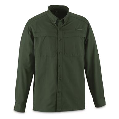 Guide Gear Men's Traverse Long Sleeve Shirt, Pine Green